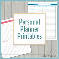 daily planner pdf free personal planner free printables