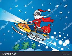 vector illustration santa claus riding on stock vector 156949175