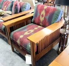 bassett mission style padded arm chair with southwest theme still