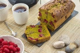 recette de cuisine cake cake au thé matcha et à la framboise sucre d orge et d epices