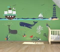 ship adventure nursery decals nautical wall decor nursery zoom