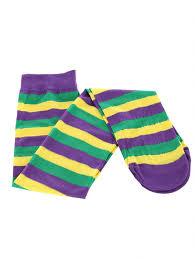 mardi gras socks mardi gras thigh high socks women s clothing jewelry handbags
