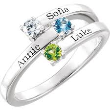 rings with children s names s ring birthstone ring family jewelry engraved