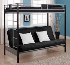 Bunk Bed With Futon On Bottom Dhp Furniture Silver Screen Futon Metal Bunk Bed