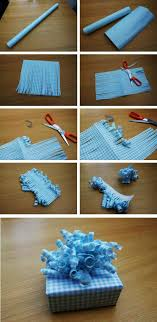 bow wrapping paper make a curly bow for gifts all