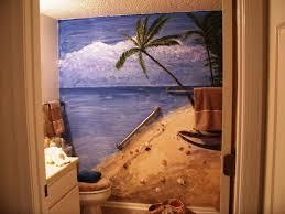 Beach Themed Bathroom Ideas Beach Theme Bathroom Design With Coral And Shell Decors Beach