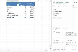 what is a frequency table how to create interactive frequency table in excel excel board