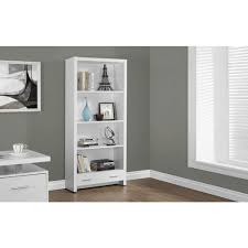 White Storage Bookcase by Monarch Specialties Dark Taupe Storage Open Bookcase I 7087 The