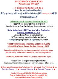 new year u0027s eve menu 2016