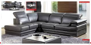 Modern Gray Leather Sofa by Large Contemporary Sectional Sofa An Excellent Home Design