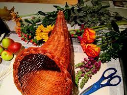 centerpiece for thanksgiving happy thanksgiving make a cornucopia of fresh fruit u0026 flowers