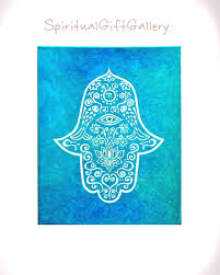 Blessings Home Decor by Original Hamsa Painting On Canvas 16 X 20 Home Blessings Spiritual