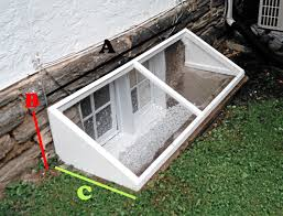 Basement Well Windows - a length of cover measuring along wall of your home b height of