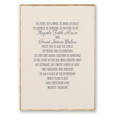 gold trim invitation invitations by
