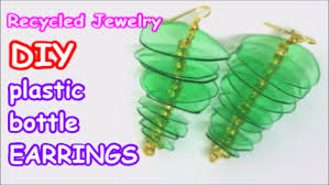 plastic bottle earrings recycled diy plastic bottle earrings blurmark