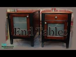 How To Build A End Table With Drawer by How To Make 2 End Tables U0026 Plans Youtube