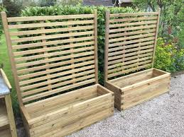 pair of patio planters with trellis new in tarporley cheshire