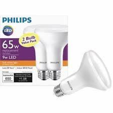 2 pack philips 462143 65w equivalent soft white br30 led light