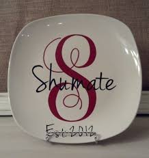 monogrammed plate hey i found this really awesome etsy listing at http www etsy