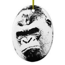 vintage gorilla ornaments keepsake ornaments zazzle