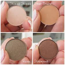 club makeup makeup geek make up geek eyeshadows shimma shimma steampunk havoc and creme