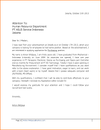 awesome collection of sample job application letter for fresh