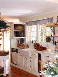 this french farmhouse kitchen with tiled benchtop plate rack and