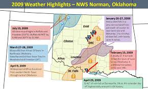 Oklahoma Travel Warnings images 2009 significant weather events summary jpg
