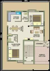West Facing House Vastu Floor Plans 2bhk Simplex With Total Area 1200 Sqft Gharexpert 2bhk Simplex