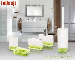 Acrylic Bathroom Storage Collection Topaz Green From Tatkraft Acrylic Bathroom Accessories
