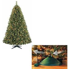 your choice 7 5 ft pre lit tree and rotating stand