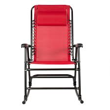 best choice products folding rocking chair red ebay