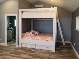 Duggar Girls Bedroom Remodel King Over King Bunk Bed Custom Made For Lake Tahoe With Matching