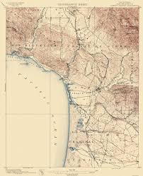 Guadalupe Mexico Map by Old Topographical Map Arroyo Grande California 1897