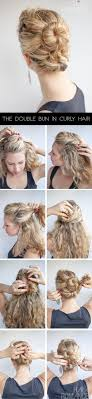 step bu step coil hairstyles curly hairstyle tutorial the double bun hair romance