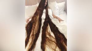 real life rapunzel has 90 inch long hair youtube