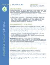 Example Of Registered Nurse Resume Sample Er Nurse Resume Emergency Room Nurse Resume Example