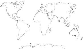 world map coloring pages printable best photos of blank world map continents blank world map 7 inside