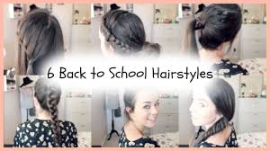 easy hairstyles for school with pictures 6 back to school quick easy braided hairstyles youtube