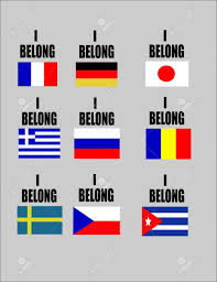 Flags Of Countries I Belong Flags Of Favorite Countries On White For Special Sporting
