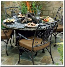 California Fire Pit by Outdoor Fire Pit Dining Table Outdoorlivingdecor