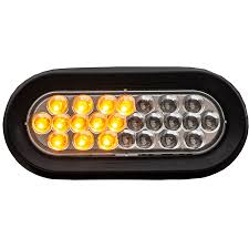 buyers sl66ac 6 1 2 oval clear led strobe light recessed