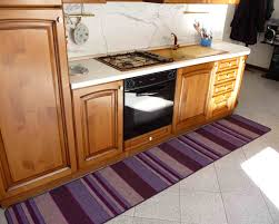 raised kitchen cabinets floor purple and beige long kitchen runner mats and rugs with