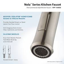 kraus kpf 1640ss modern nola single lever flex commercial style kraus kpf 1640ss modern nola single lever flex commercial style kitchen faucet stainless steel amazon com