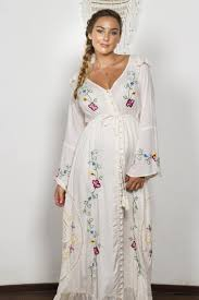 maternity clothes online stevie women s embroidered duster pink vanilla fillyboo boho
