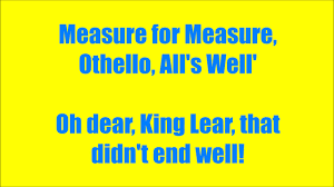 othello quote list horrible histories shakespeare a list of plays lyrics hd