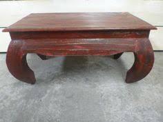 Bali Coffee Table Balinese Furniture Teak Wood Low Opium Coffee Table White Wash
