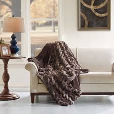 Oversized Faux Fur Throw Ruched Faux Tip Dyed Fur Oversized Throw Hampton Hill Olliix