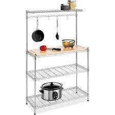 Wood Storage Shelf Design by 10 Useful Bakers Rack Design Ideas Rilane
