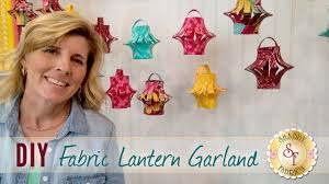 diy fabric lantern garland with jennifer bosworth of shabby